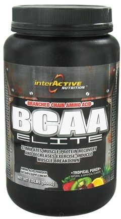 DROPPED: InterActive Nutrition - BCAA Elite Tropical Punch - 1.3 lbs.
