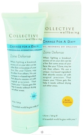 DROPPED: Collective Wellbeing - Change For A Day Oil-Absorbing Dry Emulsion - 1.75 oz.