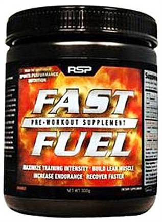 DROPPED: RSP Nutrition - Fast Fuel Pre Workout Supplement 30 Servings Orange - 300 Gram(s) CLEARANCE PRICED