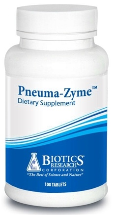 DROPPED: Biotics Research - Pneuma-Zyme - 100 Tablets CLEARANCE PRICED
