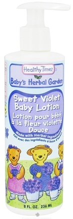 DROPPED: Healthy Times - Baby's Herbal Garden Baby Lotion Sweet Violet - 8 oz. CLEARANCE PRICED