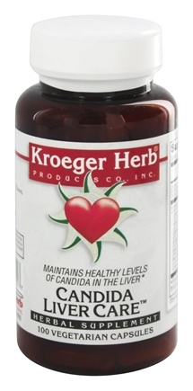 Kroeger Herbs - Candida Liver Care - 100 Vegetarian Capsules (formerly Stay Sober)