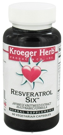 DROPPED: Kroeger Herbs - Resveratrol Six - 60 Vegetarian Capsules CLEARANCE PRICED