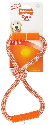 DROPPED: Nylabone - Dura Toy Double Loop Rope Dog Toy Bacon - CLEARANCE PRICED