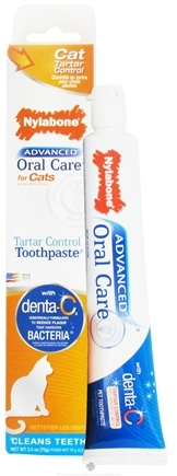 DROPPED: Nylabone - Advanced Oral Care For Cats Tartar Control Toothpaste - 2.5 oz. CLEARANCE PRICED