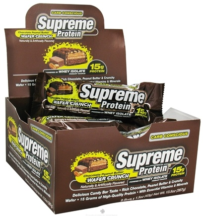 DROPPED: Supreme Protein - Carb Conscious Bar Chocolate Peanut Butter Wafer Crunch - 1.5 oz.