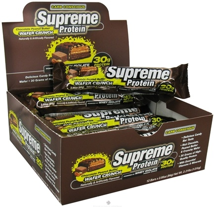DROPPED: Supreme Protein - Carb Conscious Bar Chocolate Peanut Butter Wafer Crunch - 2.95 oz.