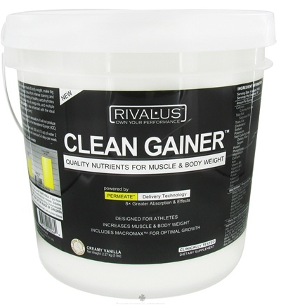 DROPPED: Rivalus - Clean Gainer Creamy Vanilla - 15 Serving(s)