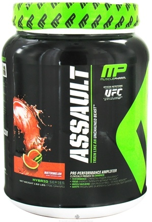 DROPPED: Muscle Pharm - Assault Pre-Performance Amplifier Watermelon - 1.62 lbs.