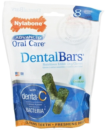 DROPPED: Nylabone - Advanced Oral Care Dental Bars Dog Chews - 8 Chew(s) CLEARANCE PRICED