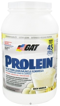 DROPPED: GAT - Prolein Rich Vanilla - 2.6 lbs. German American Technologies
