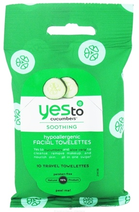 DROPPED: Yes To - Cucumbers Hypoallergenic Facial Towelettes - 10 Towelette(s)