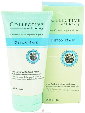 DROPPED: Collective Wellbeing - Detox Mask Anti-Acne Mask with 10% Sulfur & Active Charcoal - 5.8 oz.