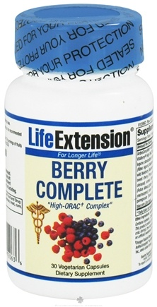 DROPPED: Life Extension - Berry Complete High ORAC Complex 400 mg. - 30 Vegetarian Capsules CLEARANCE PRICED