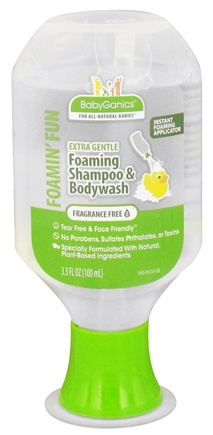 DROPPED: BabyGanics - Foaming Shampoo & Bodywash Foamin' Fun Extra Gentle Fragrance Free - 3.3 oz. CLEARANCE PRICED