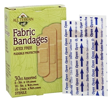 DROPPED: All Terrain - Fabric Bandages Assorted Latex Free - 30 Bandage(s)