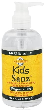 DROPPED: All Terrain - Kids Sanz Antiseptic & Moisturizing Hand Sanitizer Fragrance Free - 8 oz.