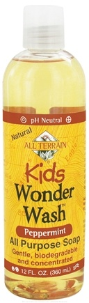 DROPPED: All Terrain - Kids Wonder Wash All Purpose Soap Peppermint - 12 oz. CLEARANCE PRICED