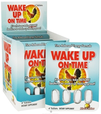 DROPPED: Rise-N-Shine - Wake Up On Time - 4 Tablets