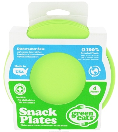 DROPPED: Green Eats - Snack Plates Green - 4 Pack CLEARANCE PRICED