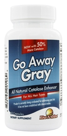DROPPED: Rise-N-Shine - Go Away Gray All Natural - 60 Capsules