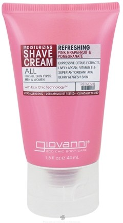 DROPPED: Giovanni - Moisturizing Shave Cream Refreshing Pink Grapefruit & Pomegranate - 1.5 oz. Travel Size