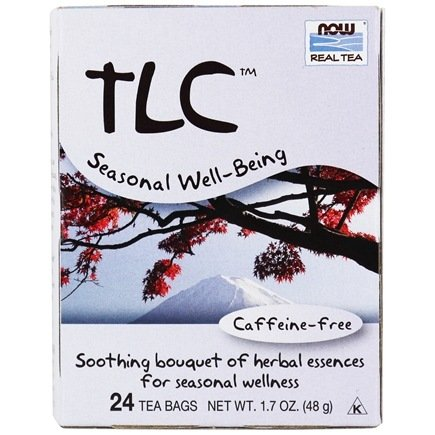 DROPPED: NOW Foods - TLC Throat and Lung Care Caffeine Free Tea - 24 Tea Bags CLEARANCE PRICED