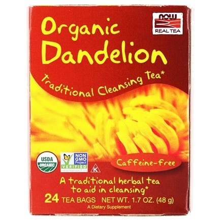 NOW Foods - Dandelion Cleansing Herbal Tea - 24 Tea Bags
