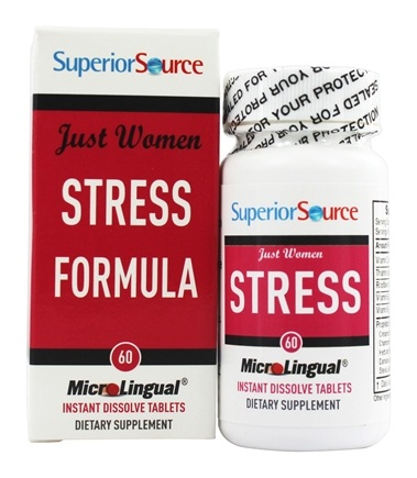 DROPPED: Superior Source - Just Women Stress Formula Instant Dissolve - 60 Tablets
