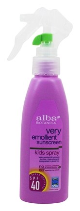 Alba Botanica - Very Emollient Sunscreen Natural Protection Kids Spray 40 SPF - 4 oz.