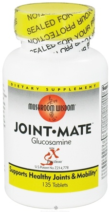 DROPPED: Mushroom Wisdom - Joint Mate Glucosamine with SX Fraction - 135 Tablets CLEARANCE PRICED
