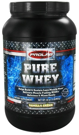 DROPPED: Prolab Nutrition - Whey Protein Isolate Vanilla Creme - 2 lbs.