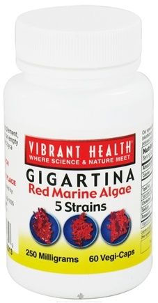 DROPPED: Vibrant Health - Gigartina Red Marine Algae - 60 Vegetarian Capsules CLEARANCE PRICED