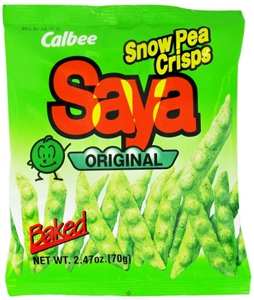 DROPPED: Calbee - Saya Baked SnowPea Crisps Original Flavor - 2.47 oz. CLEARANCE PRICED