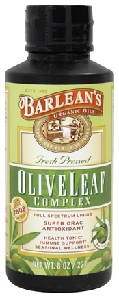 Barlean's - Fresh Pressed Olive Leaf Complex Full Spectrum Liquid Natural Flavor - 8 oz.