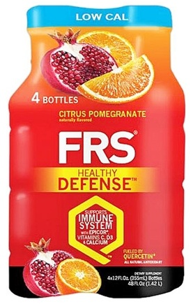 DROPPED: FRS Healthy Energy - Healthy Defense Low Cal 4 x 12 oz. Bottles Citrus Pomegranate - 4 Pack
