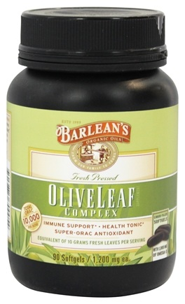 DROPPED: Barlean's - Fresh Pressed Olive Leaf Complex 1200 mg. - 90 Softgels