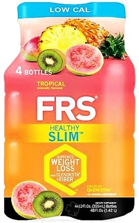 DROPPED: FRS Healthy Energy - Healthy Slim Low Cal 4 x 12 oz. Bottles Tropical - 4 Pack