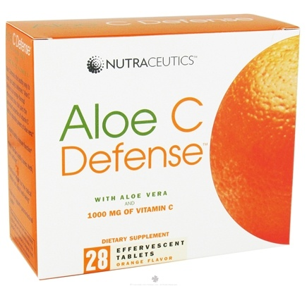 DROPPED: Nutraceutics - Aloe C Defense with Aloe Vera and 1000 mg of Vitamin C Orange - 28 Effervescent Tablet(s) CLEARANCE PRICED
