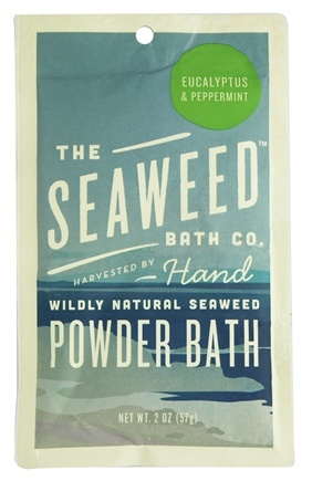 DROPPED: The Seaweed Bath Co. - Wildly Natural Seaweed Powder Bath Eucalyptus & Peppermint Scent - 2 oz.