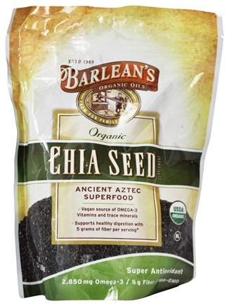 Barlean's - Organic Chia Seed Superfood 2850 mg. - 12 oz.