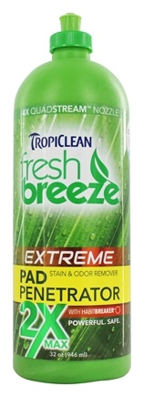 DROPPED: Tropiclean - Fresh Breeze 2X Carpet & Pad Penetrator Stain & Odor Remover - 32 oz.