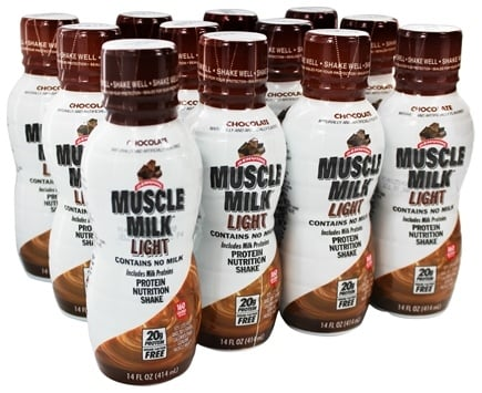 Zoom View - Muscle Milk Light RTD Protein Nutrition Shake