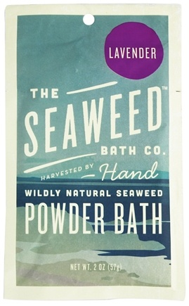 DROPPED: The Seaweed Bath Co. - Wildly Natural Seaweed Powder Bath with Moroccan Argan Oil Lavender Scent - 2 oz.