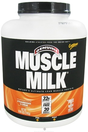 DROPPED: Cytosport - Muscle Milk Genuine Nature's Ultimate Lean Muscle Protein Strawberries 'N Creme - 4.94 lbs. CLEARANCE PRICED