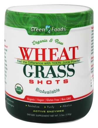 Zoom View - Wheat Grass Shots Organic and Raw