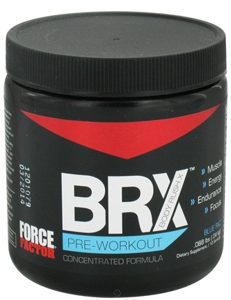 DROPPED: Force Factor - Body Rush X 10 Servings Blue Raz - 0.09 lbs. CLEARANCE PRICED