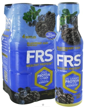 DROPPED: FRS Healthy Energy - All Natural Healthy RTD Protein 4 x 12 oz. Bottles Blackberry Acai - 4 Pack