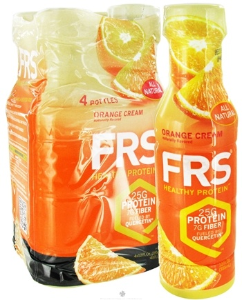 DROPPED: FRS Healthy Energy - All Natural Healthy RTD Protein 4 x 12 oz. Bottles Orange - 4 Pack