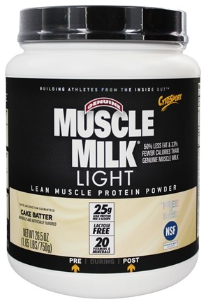 DROPPED: Cytosport - Muscle Milk Light Lower Calorie Lean Muscle Protein Cake Batter - 1.65 lbs.
